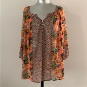 Fig and flower blouse